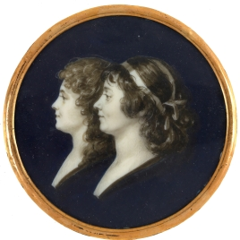 Pareja de retratos femeninos