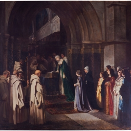 Doña Isabel la Católica en la cartuja de Miraflores