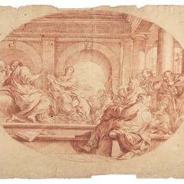 Santa Catalina de Alejandría confunde a los filósofos paganos