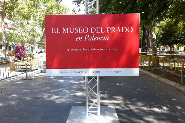 Palencia acoge una muestra al aire libre de reproducciones fotográficas de cincuenta obras de la colección del Museo del Prado
