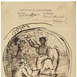 Alegoría de la Ciencia, España y América / Apuntes de sillas
