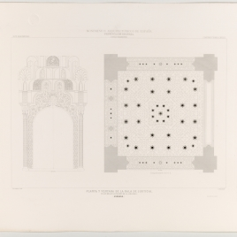 Planta y ventana de la sala de Justicia en la Alhambra de Granada