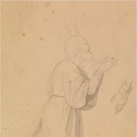 Estudio para Moisés (Regina Patriarcharum. Capilla de las Letanías de la Iglesia de Notre Dame de Lorette, París)