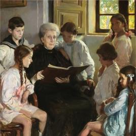 Abuela y nietos