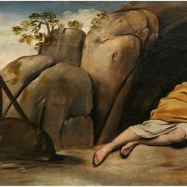 Magdalena penitente en la gruta de Sainte-Baume