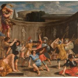 Gladiadores romanos con espadas de madera