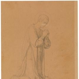 Estudio para San Lorenzo (Regina Martirum. Capilla de las Letanías de la Iglesia de Notre Dame de Lorette, París)