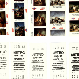 Diecinueve billetes del Metro de Madrid de 1989