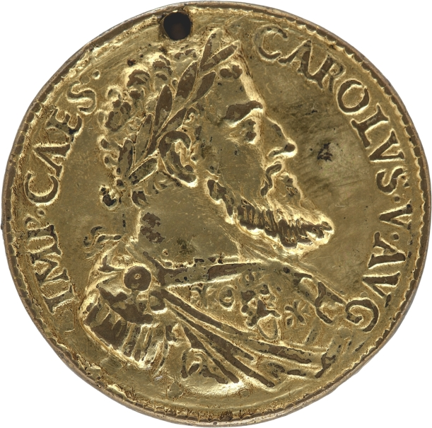 Medal of Charles V / Personification of the River Tiber (Tyberis)