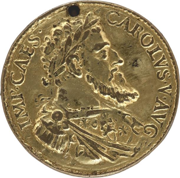 El emperador Carlos V / Personificación del río Tíber (Tyberis)