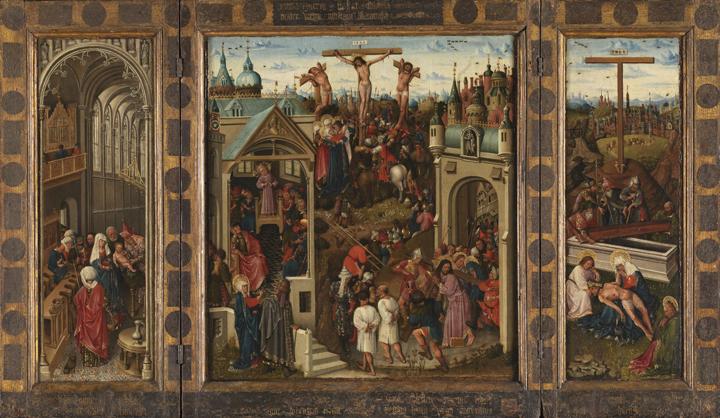 Tríptico con pasajes de la vida de Cristo, del Maestro de las Horas Collins