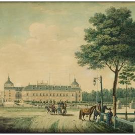 Vista del Palacio Real de Aranjuez desde el este