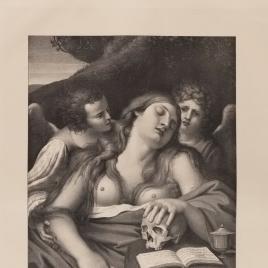La Magdalena y dos ángeles
