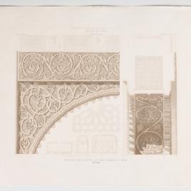 Planta, sección y detalles del salón de la Casa de Mesa en Toledo