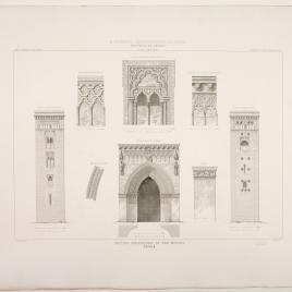 Portada y detalles de la iglesia de San Marcos en Sevilla