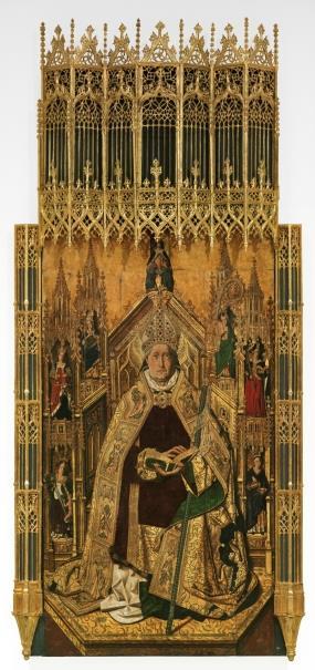 Santo Domingo de Silos entronizado como obispo (reprodución fotográfica)
