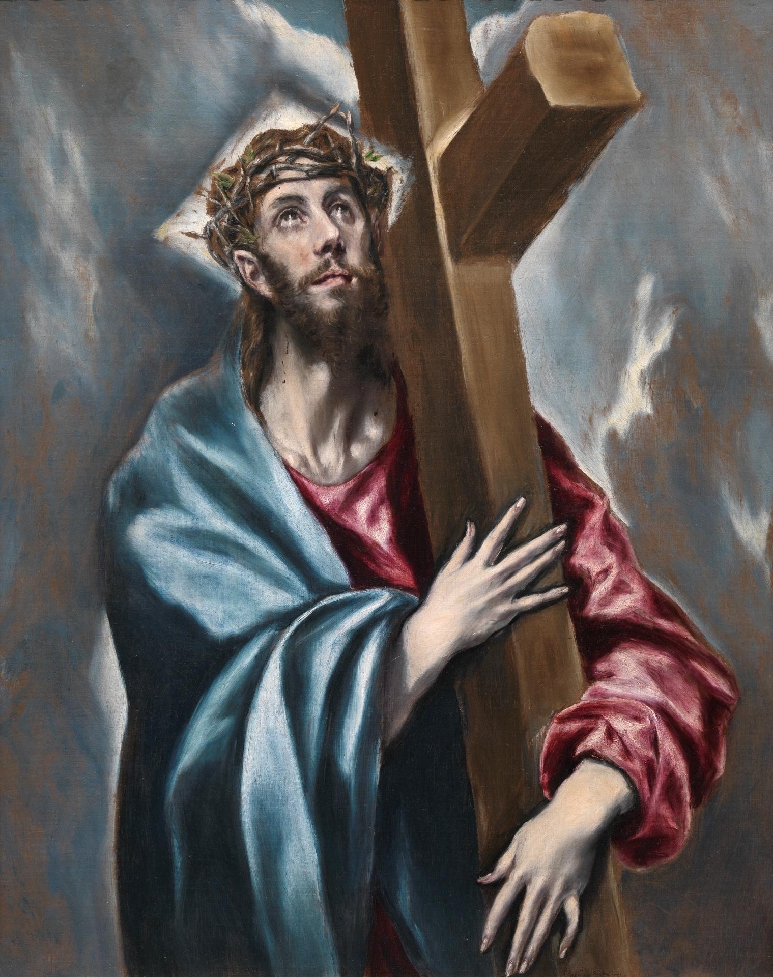 Cristo abrazado a la cruz  Coleccin  Museo Nacional del Prado