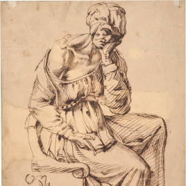 Old Woman Seated in a Chair