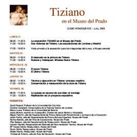 Tiziano [Recurso electrónico] : en el Museo del Prado : curso monográfico / Museo Nacional del Prado.