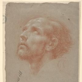 Estudio de cabeza para la figura de San Ignacio de Loyola