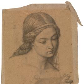 Estudio para la cabeza de un ángel cantor (Mater Salvatoris. Capilla de las Letanías de la Iglesia de Notre Dame de Lorette, París).