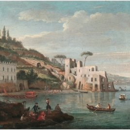 The Villa Martinelli and the Palace of the Duke of Aquale in Posillipo (Naples)