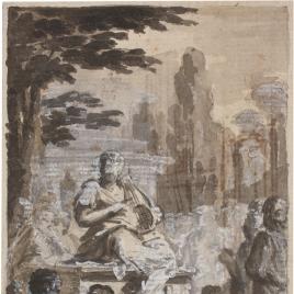 Reunión de poetas en torno a Homero / Decoración para una cornisa