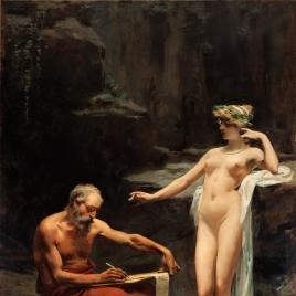 La ninfa Egeria dictando a Numa las leyes de Roma