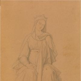 Estudio para la figura de María (Regina Coeli. Capilla de las Letanías de la Iglesia de Notre Dame de Lorette, París).