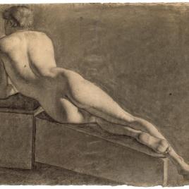 Desnudo masculino recostado, de espaldas