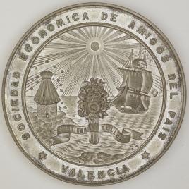 Medalla de la Exposición Regional de 1883. Sociedad Económica de Amigos del País de Valencia.