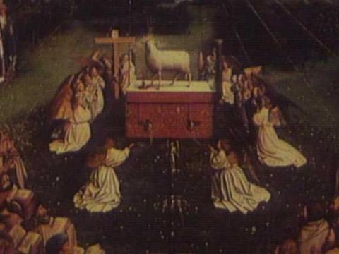El Prado expone la reinterpretación de <em>El Cordero Místico</em> por Eduardo Arroyo