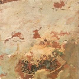Figuras asomadas a una barandilla (boceto)