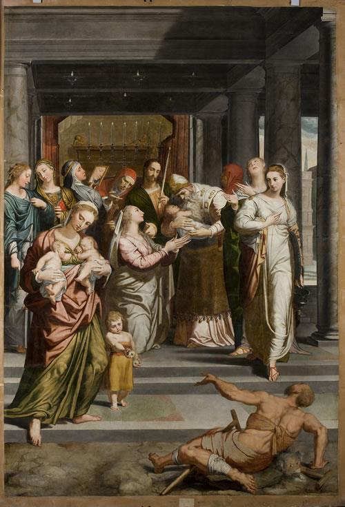 La Purificación de la Virgen en el templo de Pedro de Campaña