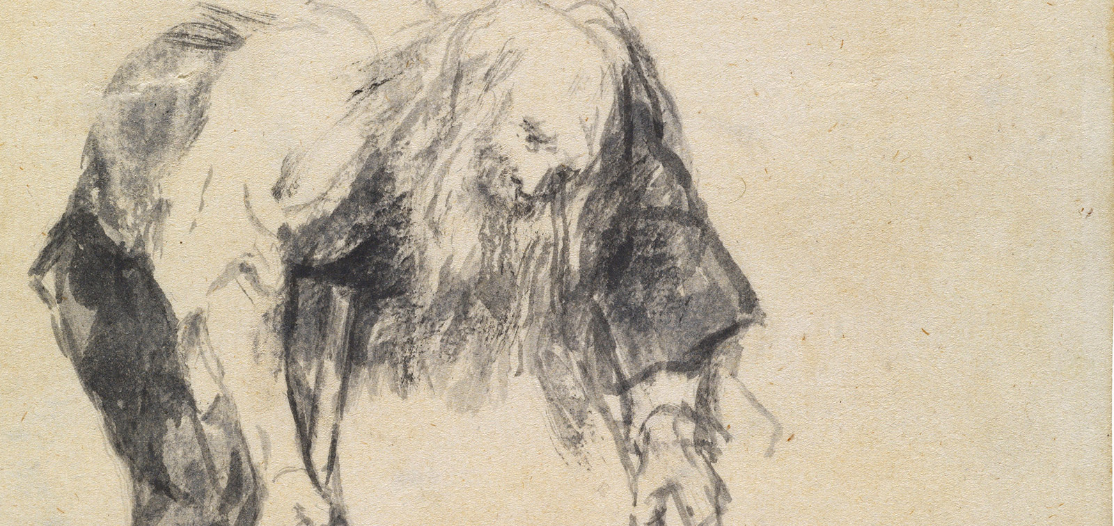 "Goya. Drawings. ""Only my Strength of Will Remains"""