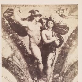 """""""Mercurio y Psiche"""", pintura al fresco en la Villa Farnesina de Roma"""
