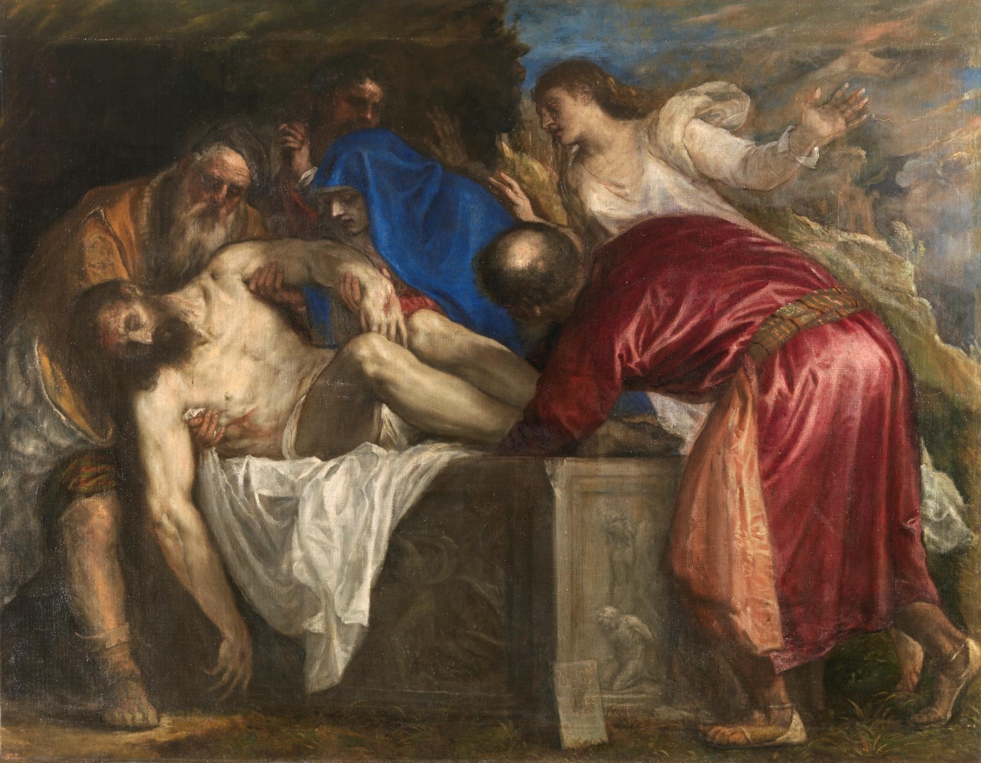 Entierro de Cristo - Colección - Museo Nacional del Prado