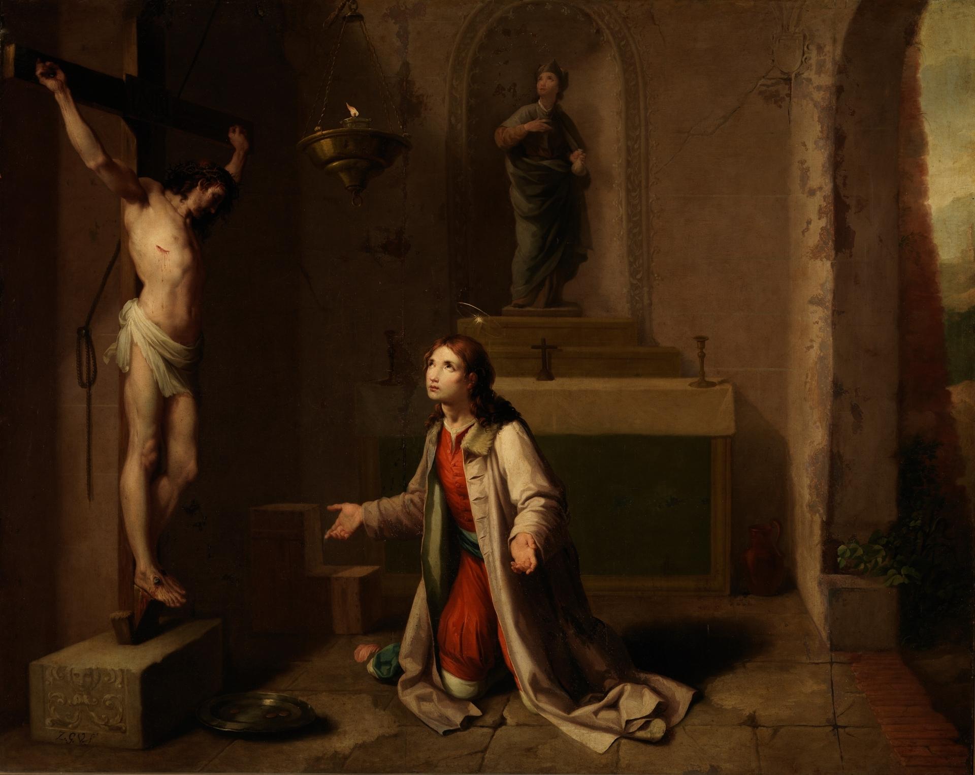 ac5cc8f73cf San Francisco orando ante el Cristo de San Damián - Colección - Museo  Nacional del Prado