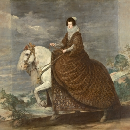Queen Elisabeth of France on Horseback