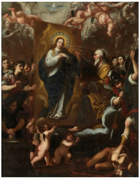 God the Father painting the Immaculate Conception