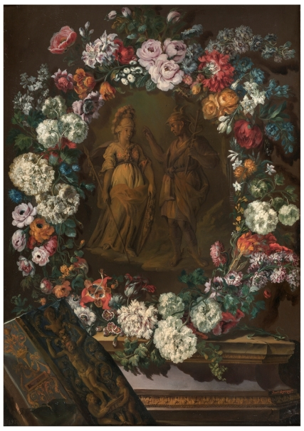Garland of Flowers with Minerva and Mercury
