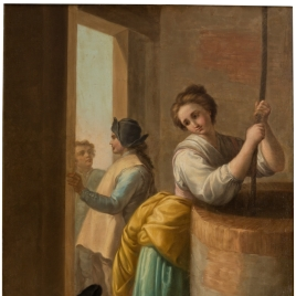 Woman Drawing Water from a Well