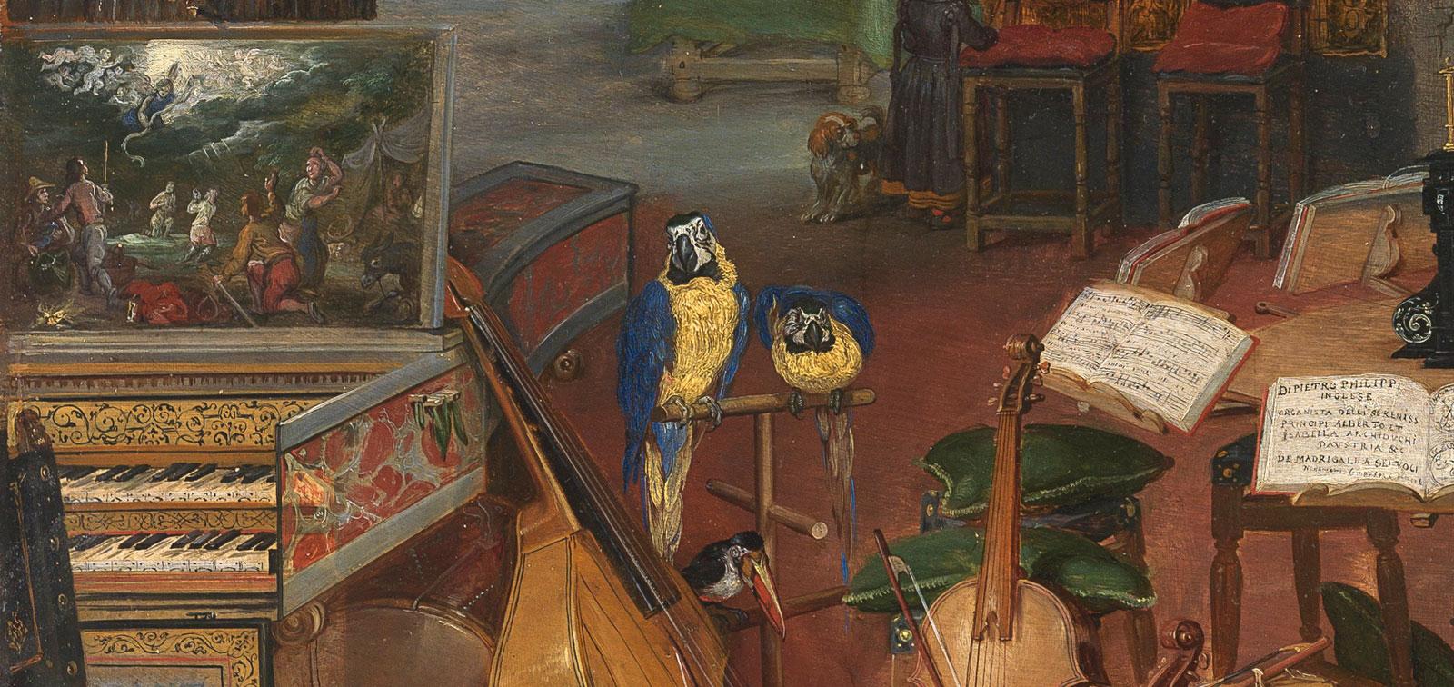 Pintadas para la música: dos tablas procedentes de instrumentos musicales en el Museo del Prado