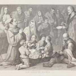 San Diego de Alcalá dando de comer a los pobres