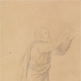Estudio para Noé (Regina Patriarcharum. Capilla de las Letanías de la Iglesia de Notre Dame de Lorette, París).