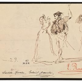 Hamlet y Ofelia observados por un personaje / Vaquera cuidando una res