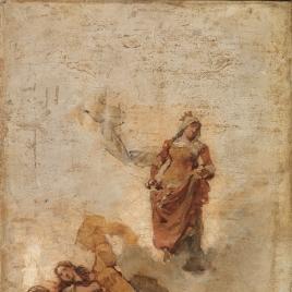 Aparición de Santa Isabel de Hungría, en gloria, a los pobres (boceto)