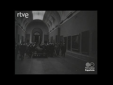 El presidente Quirino visita el Museo del Prado