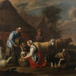 Paisaje con pastores y ganados