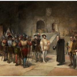 Francisco I, rey de Francia, entrando prisionero en la Torre de los Lujanes